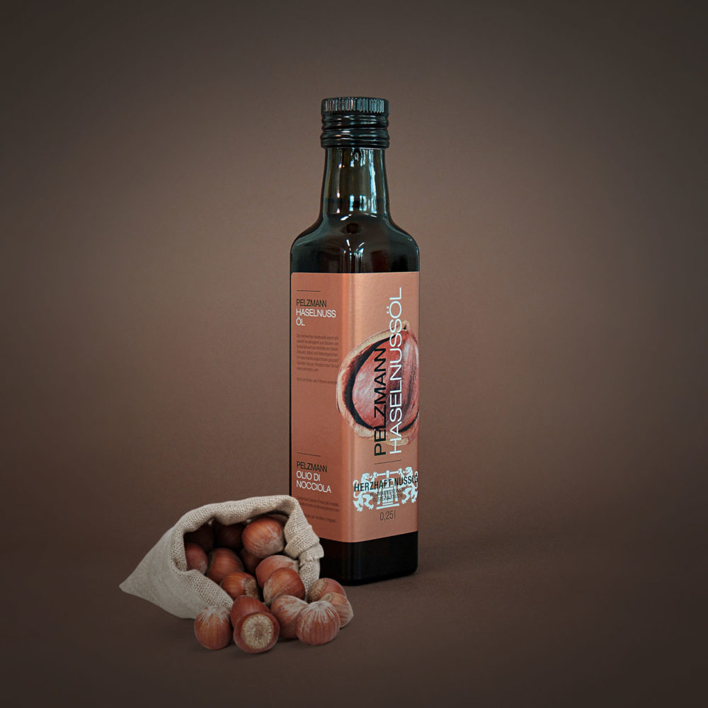 Flasche Pelzmann Haselnussöl