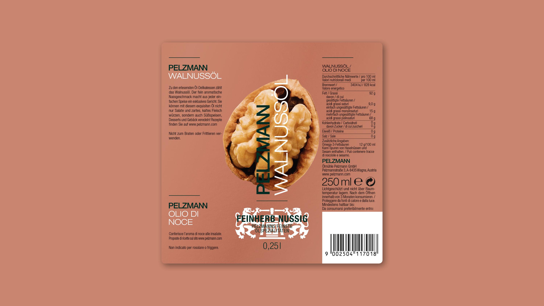 Etikett Pelzmann Walnussöl